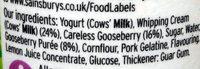 Whipped gooseberry fool - Ingredients - en