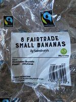 Fairtrade small bananas - Ingredients - en
