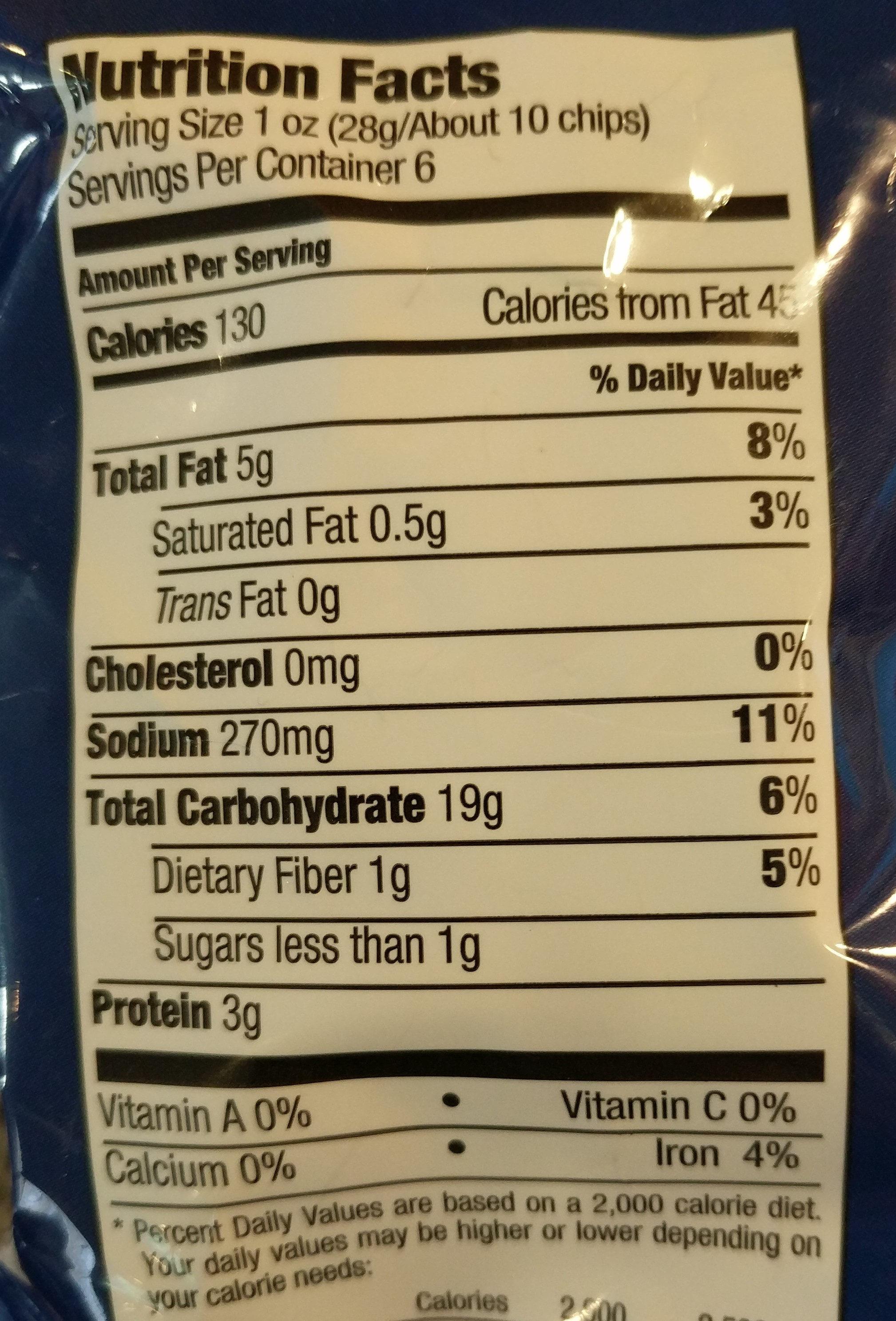Pita Chips - Voedingswaarden