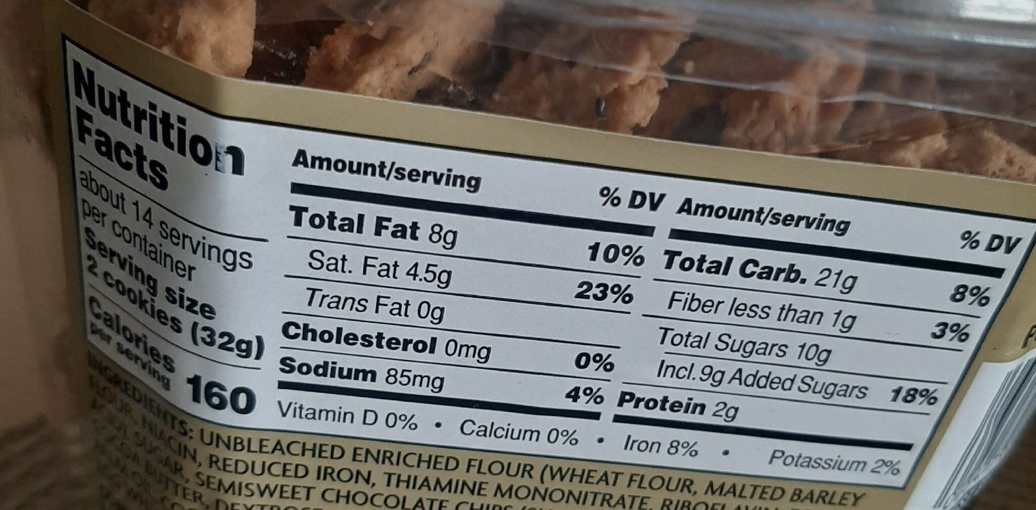 Chocolate Chip Cookie Dunkers - Nutrition facts - en