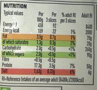 British ham slices - Nutrition facts