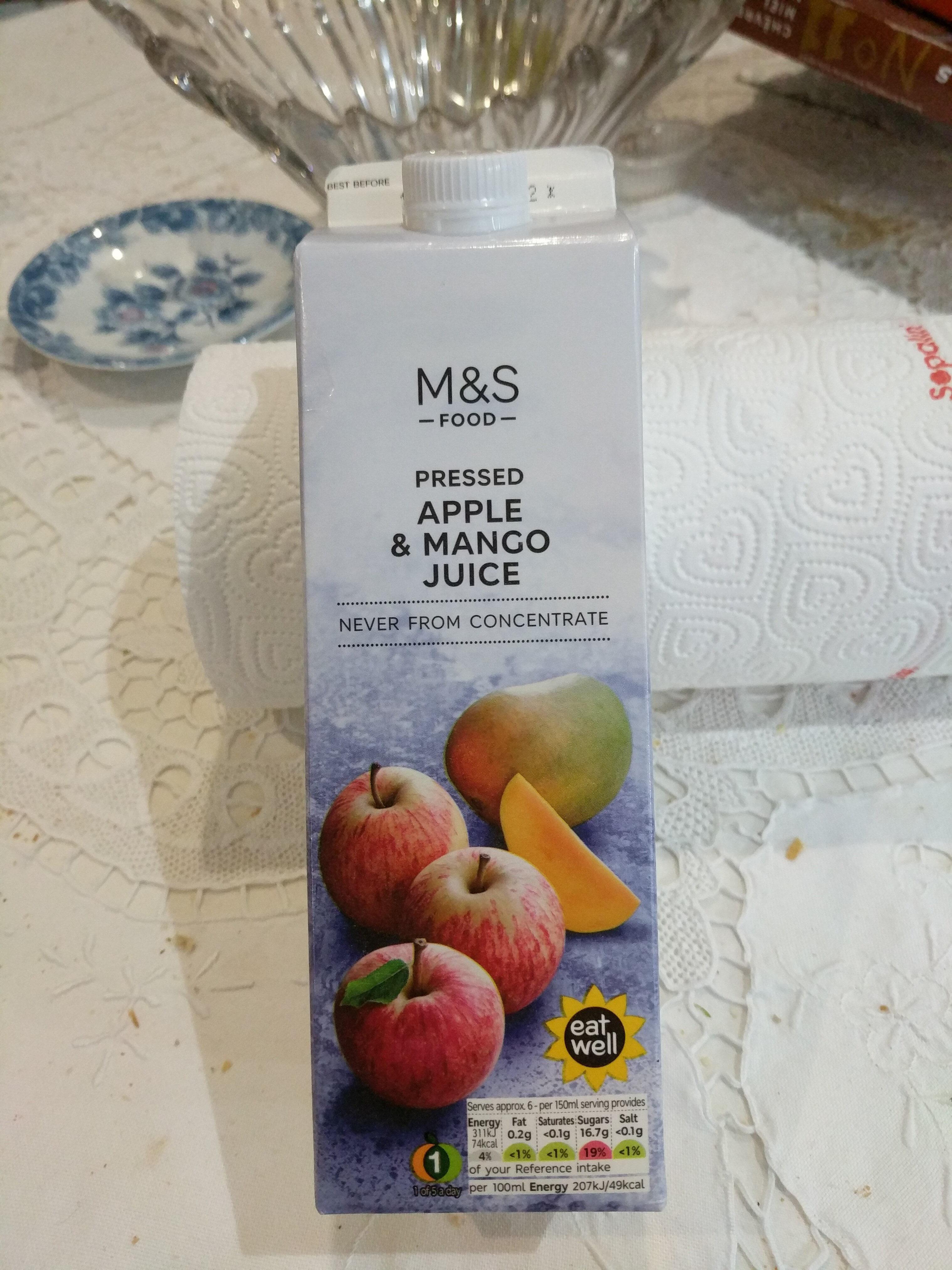 Jus de pomme pressées et mangue - Product