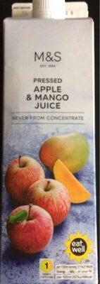 Jus de pomme pressées et mangue - Produit - fr