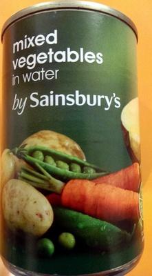 mixed vegetables in water - Produit - en