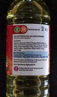 Vegetable oil - Voedingswaarden - en