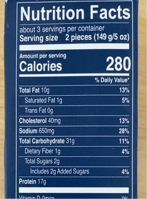 Trader Joe's Oven Ready Breaded Cod Fillets - Nutrition facts