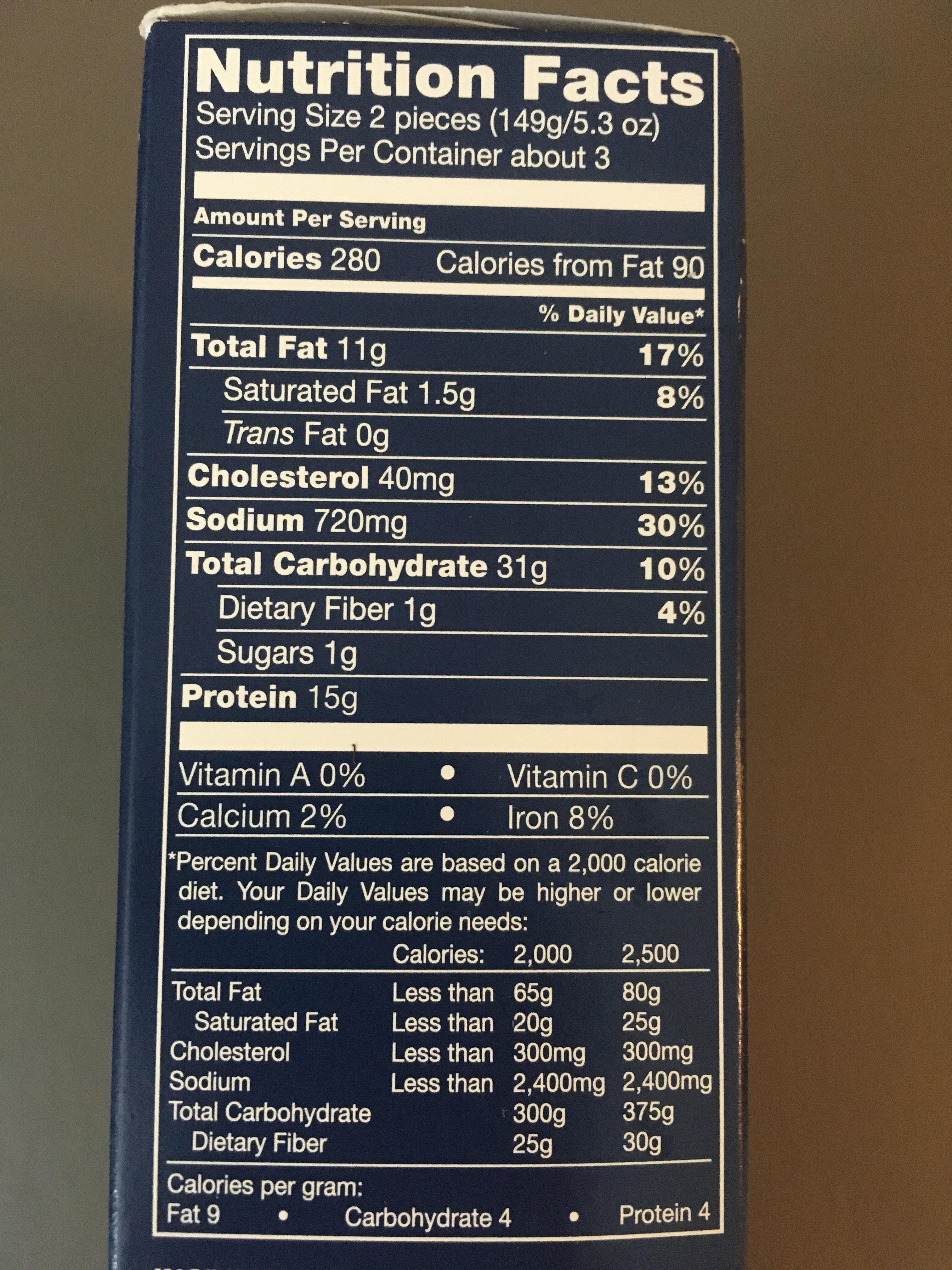 Trader Joe's Oven Ready Breaded Cod Fillets - Nutrition facts - en