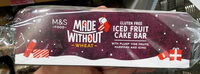 Made Without Wheat Top Iced Christmas Cake Bar - Product