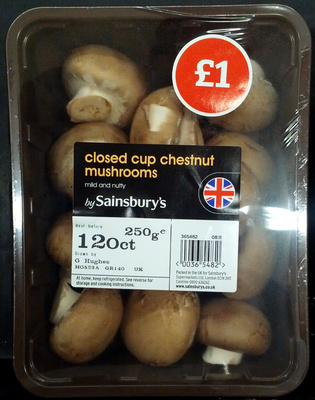 Closed cup chestnut mushrooms - Produit
