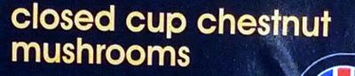 Closed cup chestnut mushrooms - Ingredients