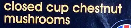 Closed cup chestnut mushrooms - Ingrédients