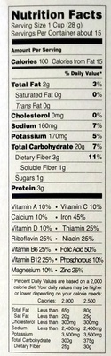 Joe's O's - Nutrition facts