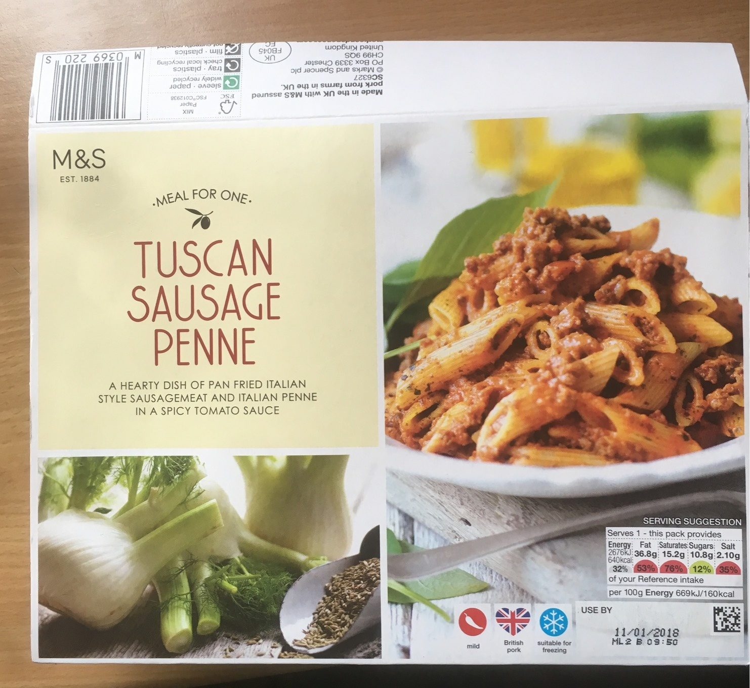 Tuscan sausage penne - Product