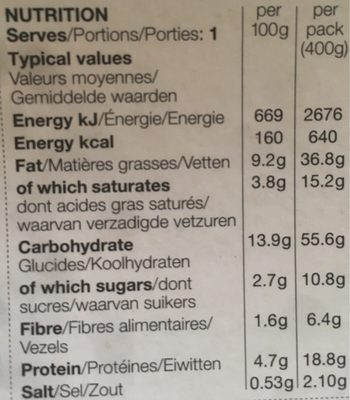 Tuscan sausage penne - Nutrition facts