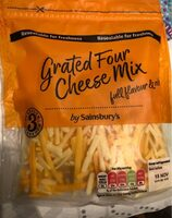 Grated four cheese mix - Product