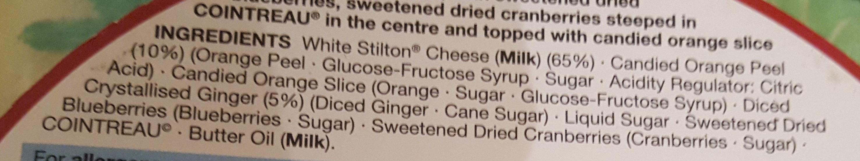 white stilton - Ingredients - en