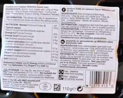 Wiltshire cured ham - Ingredients