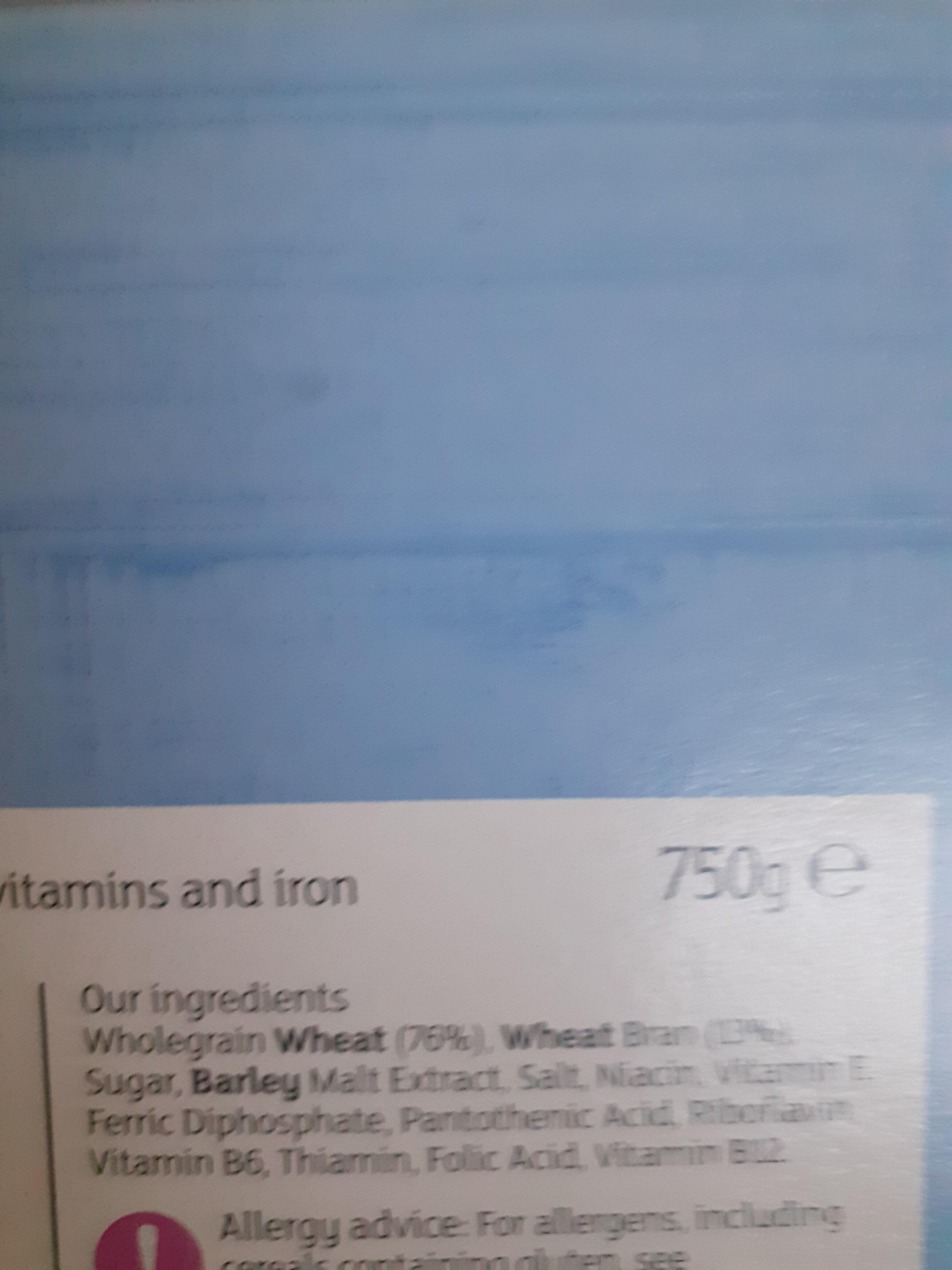 wholegrain bran flakes - Ingredientes - en