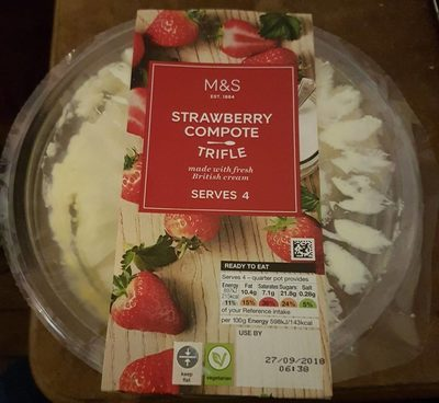 Strawberry compote trifle - Product