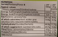 Cookies pistachio & almond - Voedingswaarden