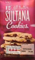 All Butter SULTANA Cookies - Product