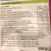 All Butter SULTANA Cookies - Nutrition facts