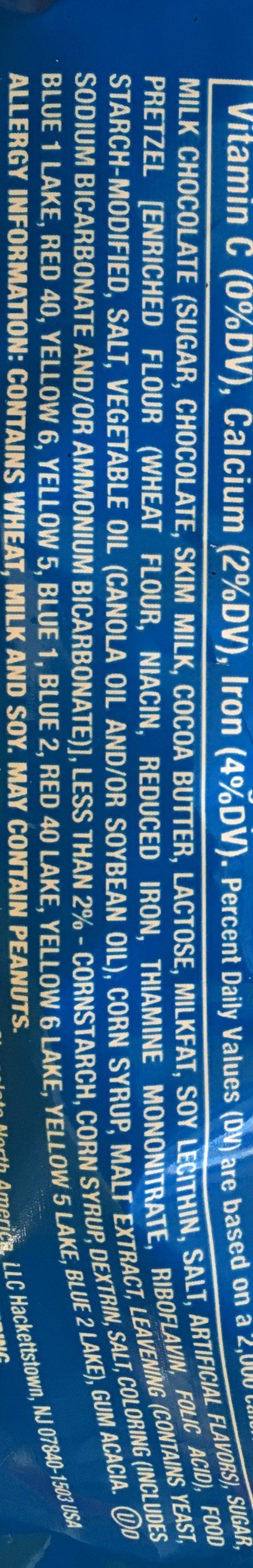 M &M'S Pretzel Sharing Size - Ingredients - en
