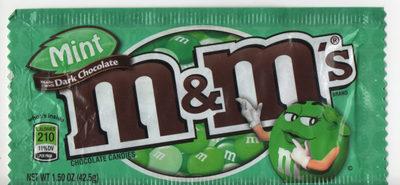 M &M'S Mint - M &M'S à La Menthe Et Chocolat Noir - Produkt