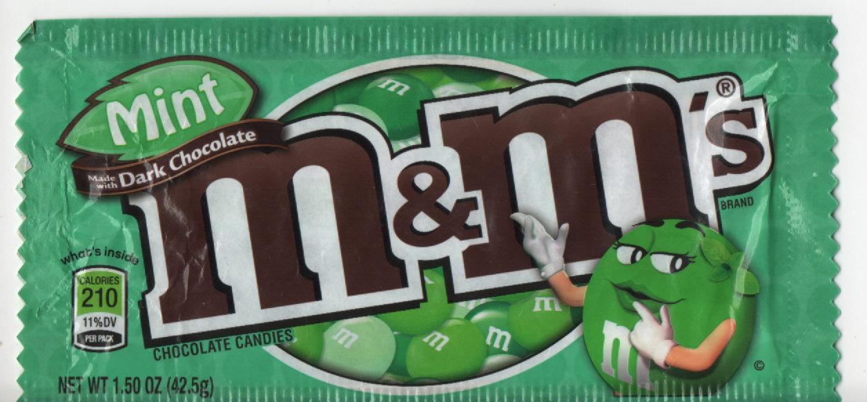 M &M'S Mint - M &M'S à La Menthe Et Chocolat Noir - Product