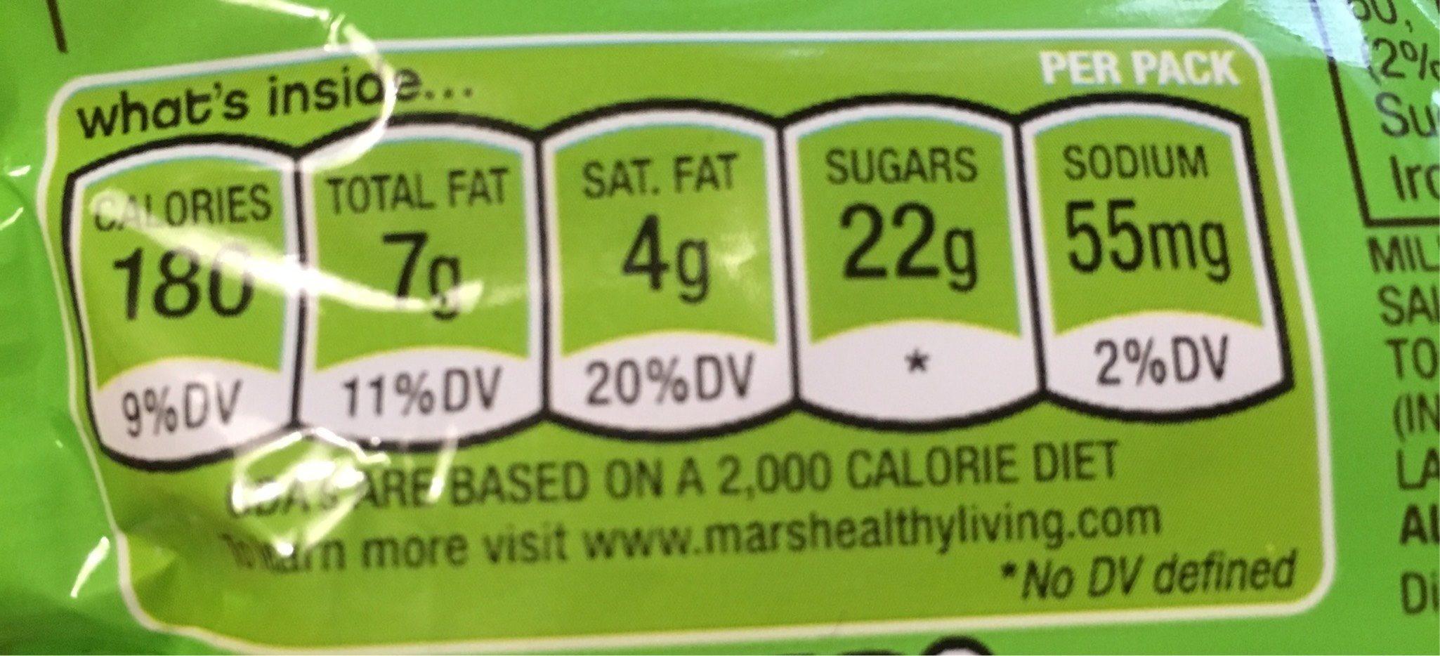 M &M'S Crispy - Informations nutritionnelles