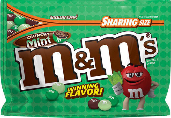 Mm's crunchy mint chocolate candies - Product - en
