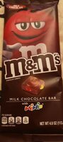 Mm's milk chocolate bar with minis - Product - en