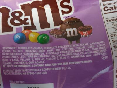 M&M's Fudge Brownie - Ingredients - en