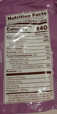 M&M's Fudge Brownie - Nutrition facts