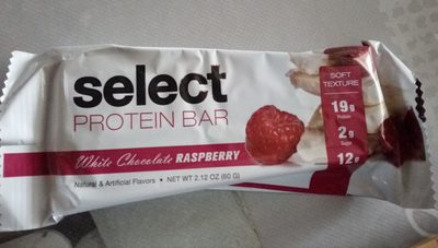 Barre protéinée framboise chocolat blanc - Product