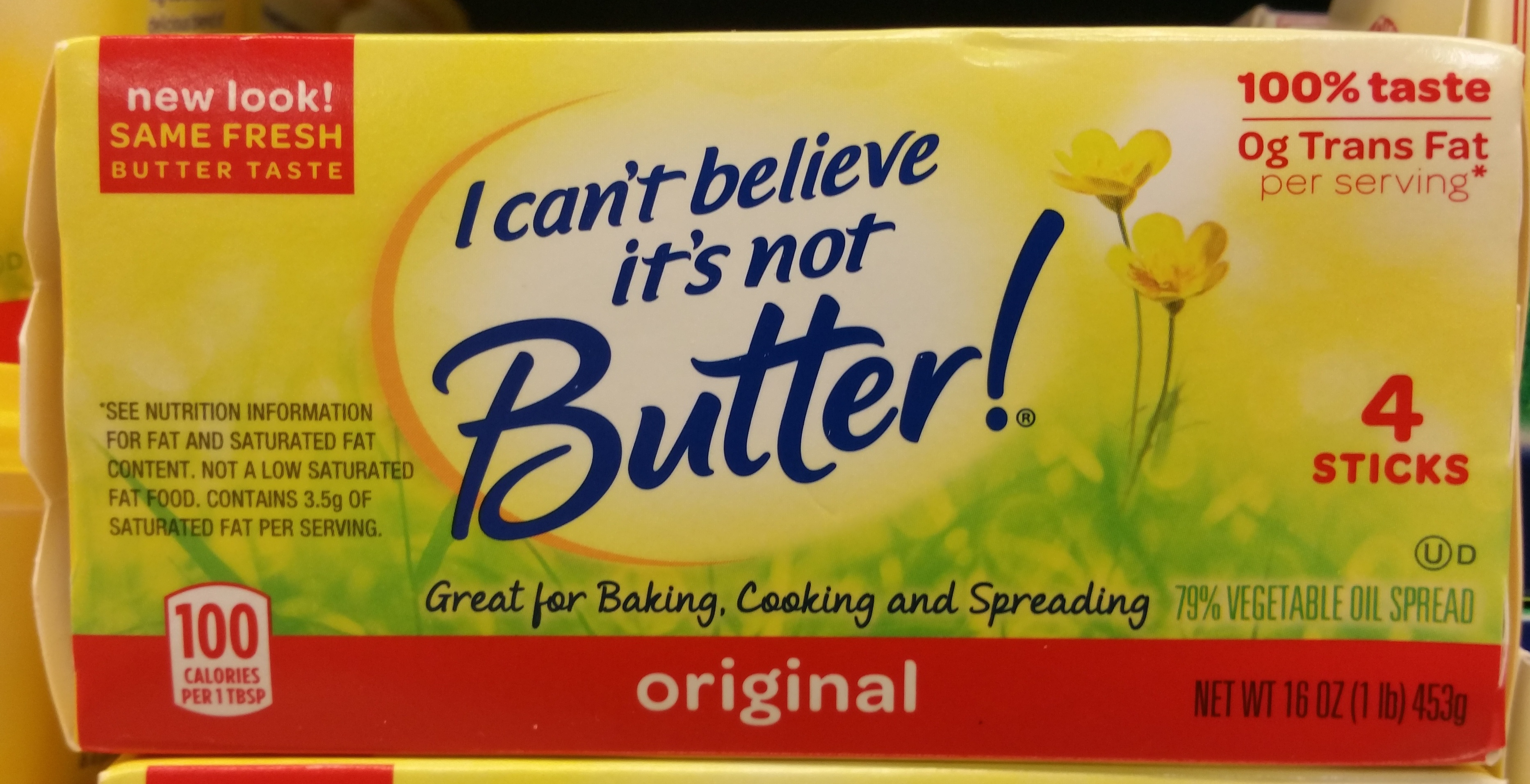 I can't believe it's not butter!, 79% vegetable oil spread, original - Product - en
