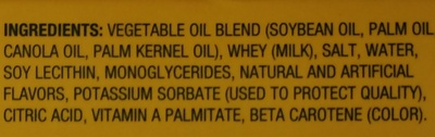 I can't believe it's not butter!, 79% vegetable oil spread, original - Ingredients - en