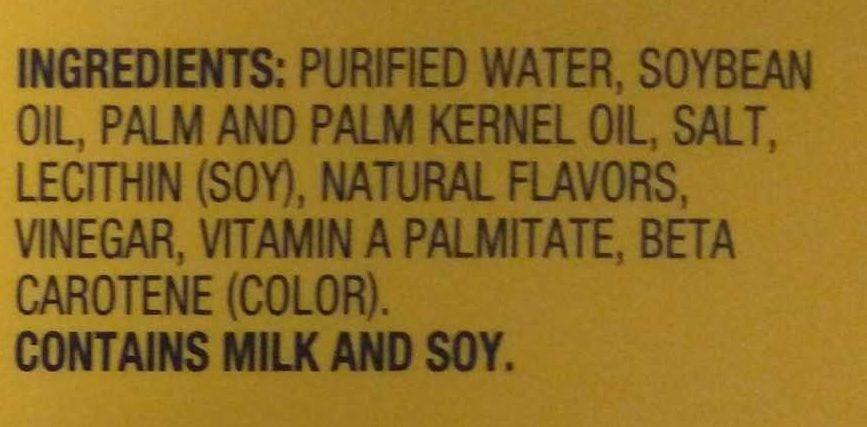 45% Vegetable Oil Spread, Original - Ingrédients