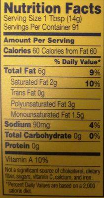 45% Vegetable Oil Spread, Original - Informations nutritionnelles