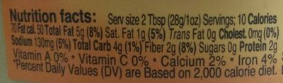 Classic hummus - Nutrition facts