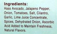 Spicy Guacamole - Ingrédients - en