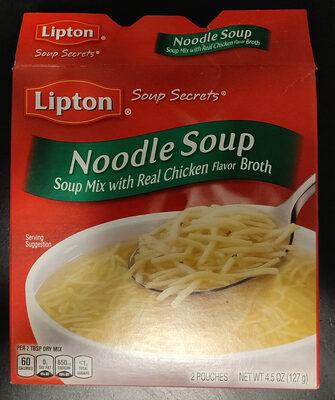 Lipton, soup secrets, soup mix with real chicken flavor broth, noodle soup, noodle soup - Produit - en