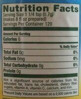 Unsweetened iced tea - Nutrition facts - en