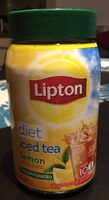 Lipton, decaffeinated diet iced tea, lemon natural flavor - Product - en