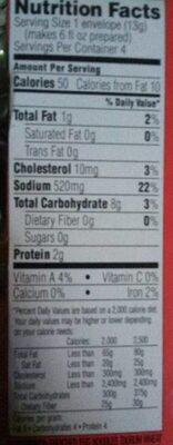 Cup-a-soup instant soup chicken noodle - Nutrition facts - en