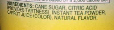 Sweetened iced tea mix - Ingredients - en