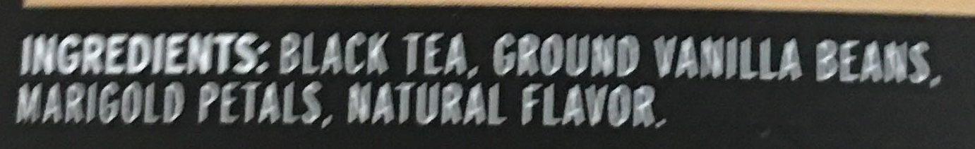 Black Tea with Vanilla - Ingredients