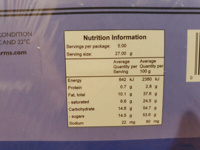 Australia's Finest Chocolate Covered Macadamia Nuts - Nutrition facts - en