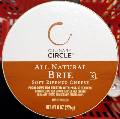 Culinary circle, all natural brie - Product - en
