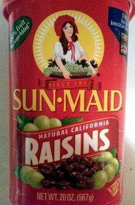 Natural California Raisins - Product